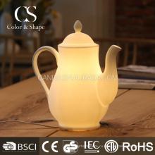 Новое прибытие современный чайник формы керамических настольная лампа
