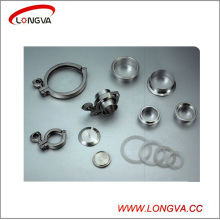 Sanitary Stainless Steel Tri Clover Clamp with Ferrule and Gasket