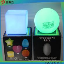 Lumières carrées de décoration de lumière de bougie colorée par LED de forme carrée