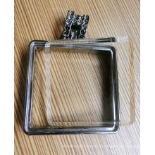 Perles de dos carrées plates de 25mm, transparentes