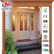 Oak Park Decorative Fiberglass Prehung Front Door