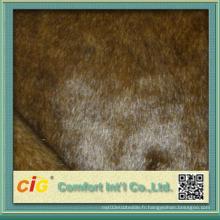 Tissus colorés de haute qualité en faux fourrure