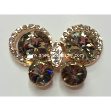 Butterfly Rhinestone Alloy Shoe Buckles, Shoe Ornaments