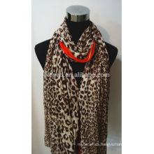 Bufanda de algodón de alta calidad de impresión de leopardo