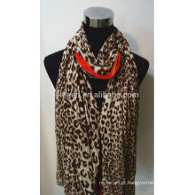 Lenço de algodão de alta qualidade de impressão leopardo