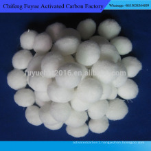 Water treatment material with Fast filtration rate Polyester fiber ball for sale