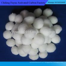 Material de tratamento de água com taxa de filtração rápida Bola de fibra de poliéster à venda