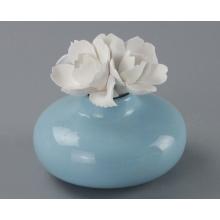 Heiße Verkaufs-Parfüm-Flasche mit keramischer Blumen-Kappe