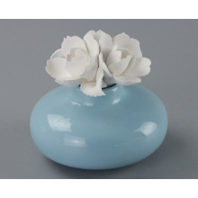 Hot Sale Perfume Bottle with Ceramic Flower Cap