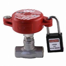 1-inch to 10ft 5 sizes gate valve lockout, made of ABS plastic