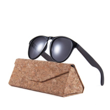 Wholesale Fashion round frame bamboo wooden foot sunglasses, true color film polarized lens, anti-ultraviolet sunglasses 2021