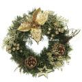 Holiday Decoration Plastic LED Flower Christmas Wreath