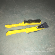 Plastic Handle Steel Wire Brush with Schleifer (YY-570)