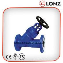 Acier inoxydable CF8m DIN Y Type Bellow Seal Globe Valve