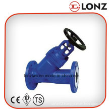 Stainless Steel CF8m DIN Y Type Bellow Seal Globe Valve