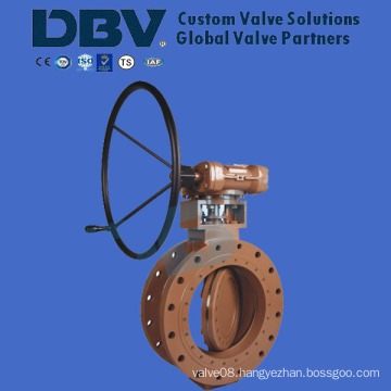 Worm-Gear Fully Metal Seat Flanged Butterfly Valve