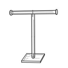 Custom Acrylic Necklace Jewelry T-Bar Display Stand