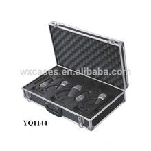 instrumento de aluminio fuerte y portátil estuche de transporte con inserto de espuma personalizadas