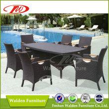 Ensemble de salle à manger en rotin de jardin extérieur (DH-6126)