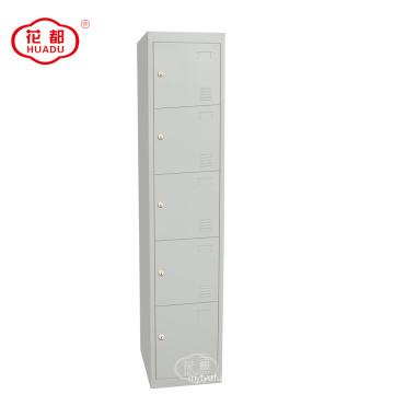 KD metal 5 niveles armarios de cinco puertas taquillas