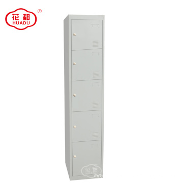 KD metal 5 tier locker five doors lockers