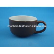Taza de café esmaltada color de porcelana personalizada con 5 colores