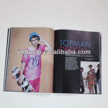 Colorful Laminated Cover Softcover Magazine Printing