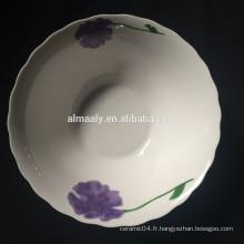 bord coupé en céramique bol à salade profonde