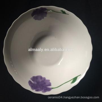 cut edge Ceramic deep salad bowl