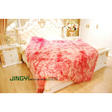Wholesale Tibet Lamb Curly Sheepskin Leather Blanket