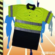 2016 высокое качество светоотражающие рубашки поло безопасности проветривать и моды для работы и спорта
