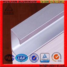 China Perfis de extrusão de alumínio anodizado para móveis