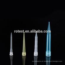 pontas da pipeta plástica do laboratório 300ul