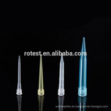 Puntas de pipeta de plástico de laboratorio 300ul
