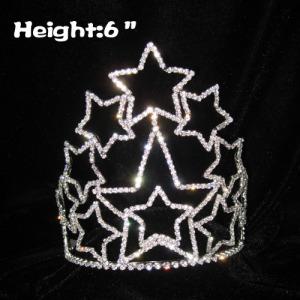 Coroas em forma de estrela do concurso de strass