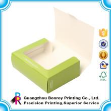 Caja de empaquetado de cerámica modificada para requisitos particulares de Macaron de la cartulina de la ventana al por mayor