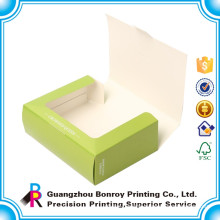Customized Window Fancy Cardboard Ceramic Macaron Packaging Box Wholesale