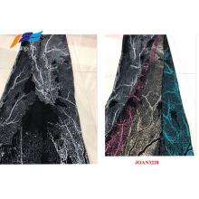 Tecidos para roupas com impressão digital de poliéster preto Abaya Veil