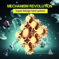 2017 New Design 9 Gear Linkage Hand Spinner 188 Bearing Metal Fidget Spinner Mix Hand Fidget Spinner