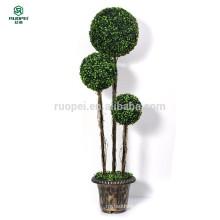 120 cm 150 cm 3 stücke künstliche buchsbaum topiary ball baum mit topf