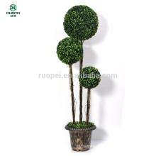 120 cm 150 cm 3 pcs artificiais buxo topiary bola árvore com pote