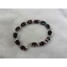 Moda brazalete de joyería de plata cuarzo místico (BR0025)