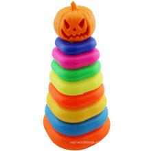 Anillo de retención de Halloween Pumpkin Plegable Jenga Toy