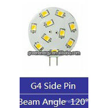 wafer G4 10leds 1.5W 12V AC/10-30V DC side pin/back pin