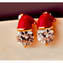 Bijoux de Noël / Boucle d'oreille de Noël / Chapeau de Noël (XER13362)