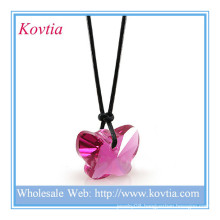 Fine jewellery butterfly shape crystal pendants uk