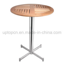 Solid Teak Wood Table with Stainless Steel for Outdoor (SP-AT335)