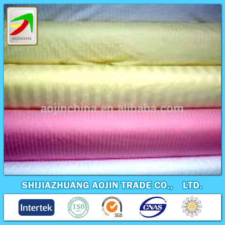 Wholesale hotel use white satin stripe fabrics