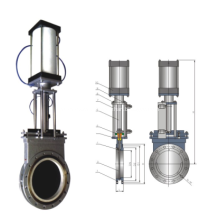 Pneumatic  Ceramic  knife gate valve