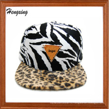 Пользовательские Зебра плоские snapback шляпы и шапки